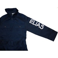 thumb-Dark blue overalls with name or text printing-2
