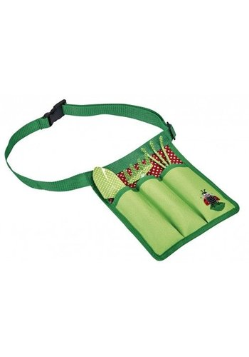 Kriebeldiertjes Set of children's garden tools in waist bag