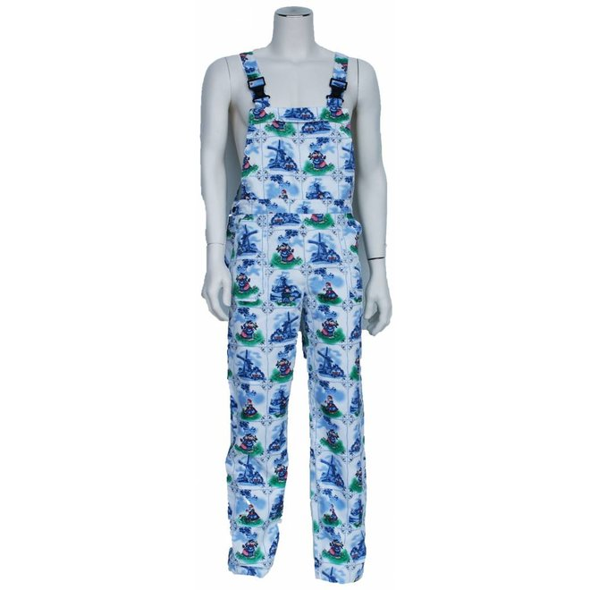 Delftsblauwe tuinbroek M/V voor tuin en carnaval