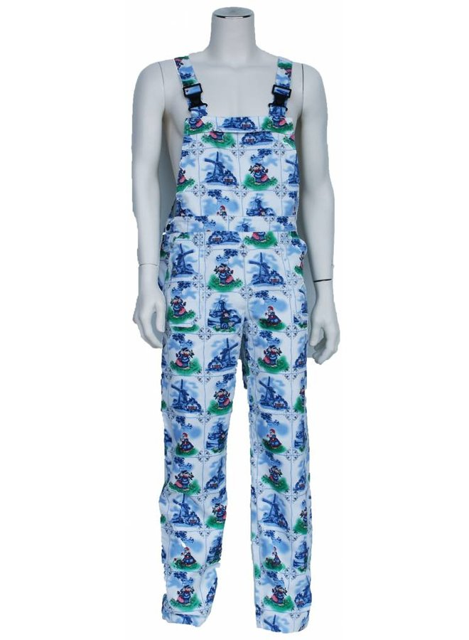 Delft blue dungarees M / F for garden and carnival