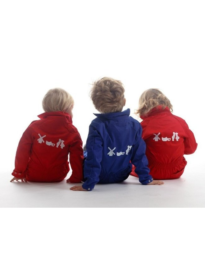 Children's overall with Dutch motif