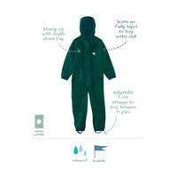 thumb-Waterproof coveralls, rain boiler suit - dark green-1