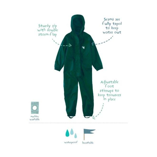 Waterproof overall, rain overall - dark green KDV & BSO