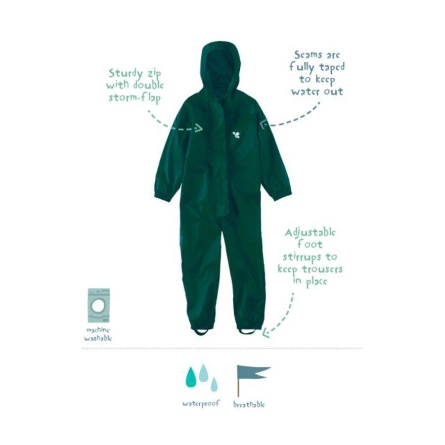 Waterproof coveralls, rain boiler suit - dark green-1