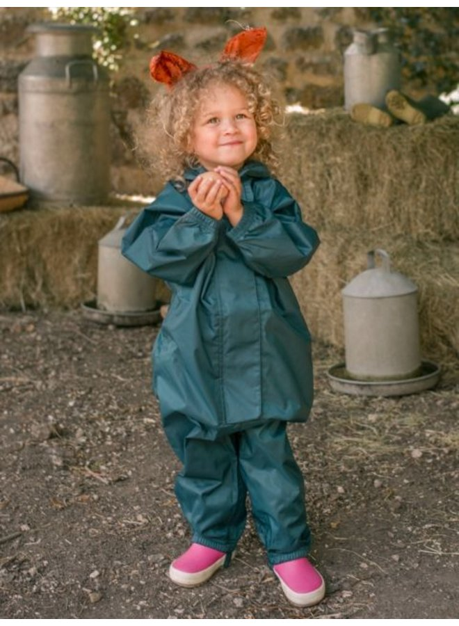 Waterproof overall, regenoverall - donkergroen KDV & BSO