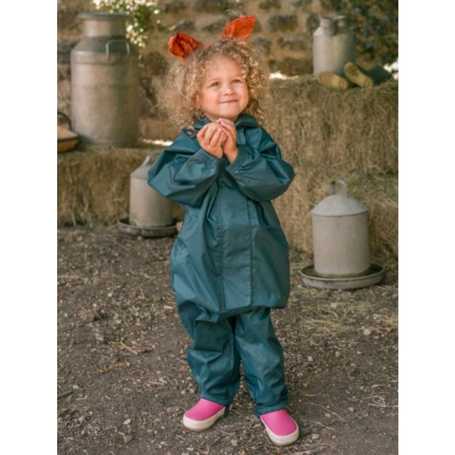 Waterproof overall, regenoverall - donkergroen KDV & BSO-3