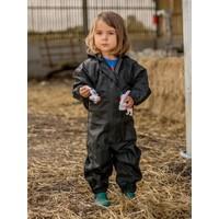 thumb-Waterproof coveralls, rain boiler suit - black-2