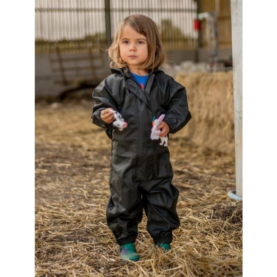 Waterproof coveralls, rain boiler suit - black-2