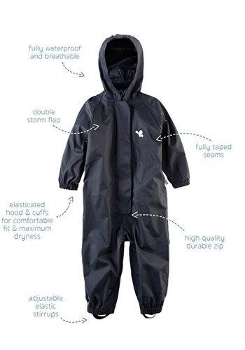 MP buitenkleding Waterproof overalls, waterproof boiler suit - black