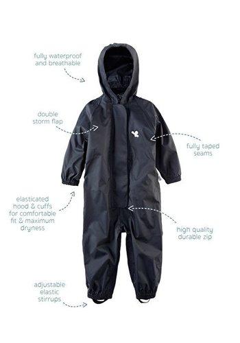 MP buitenkleding Waterproof overall, regenoverall - zwart KDV & BSO