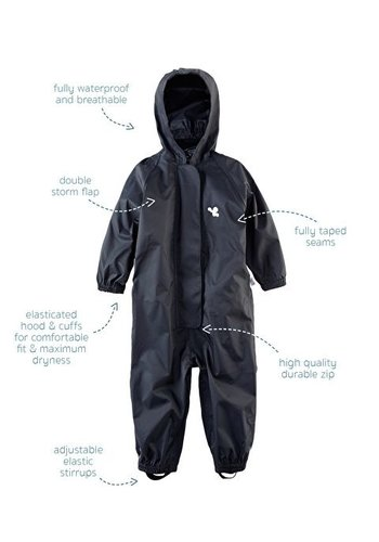 MP buitenkleding Waterproof overalls, waterproof boiler suit - black