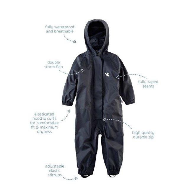 Waterproof overall, rain overall - black KDV & BSO