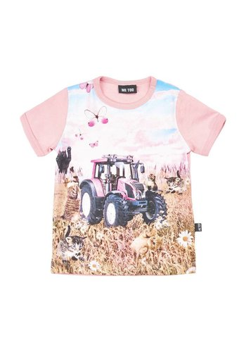 ME TOO T-shirt with pink tractor