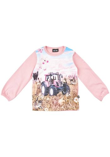 ME TOO Longsleeve with tractor print in pink