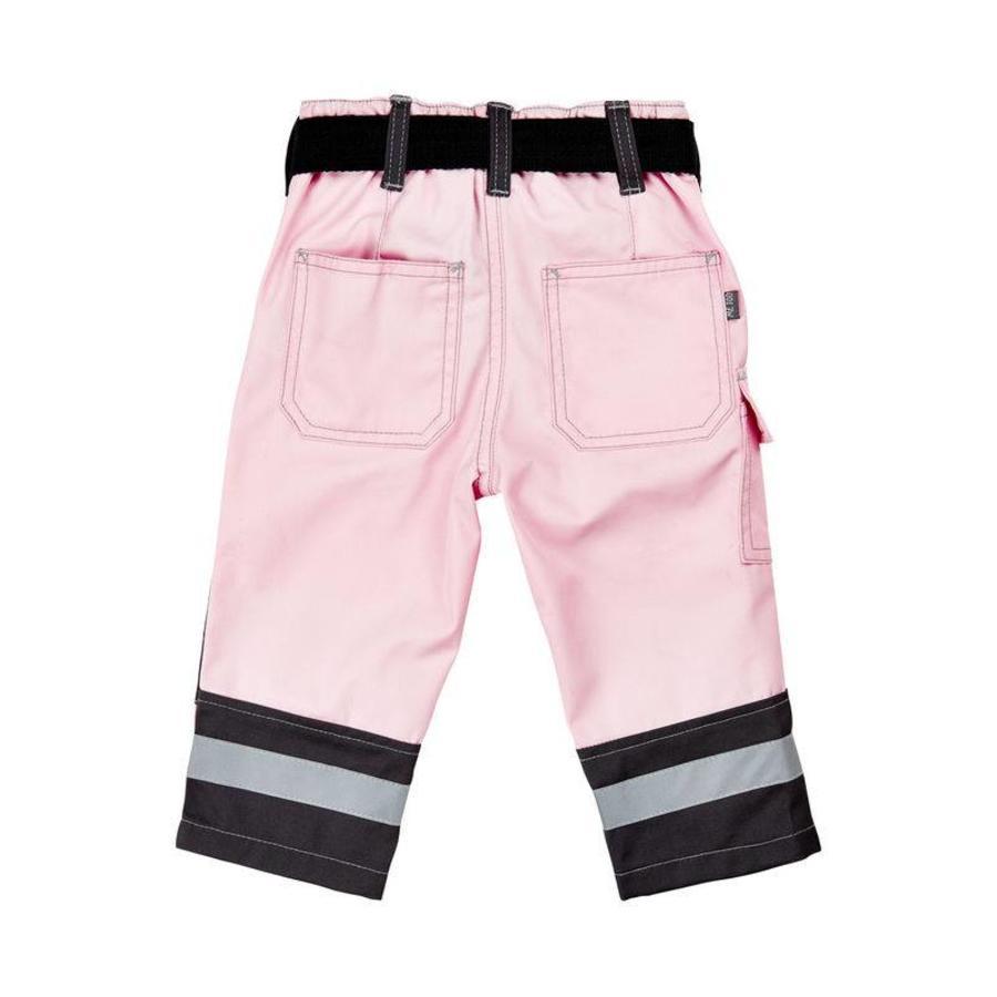 Roze kinder werkbroek met zakken en kniestukken-2