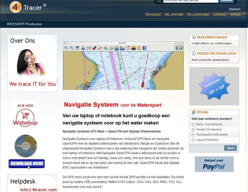 4tracer lanceert nieuwe website /shop