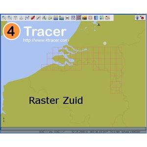 4Tracer Waterkaarten Raster Zuid