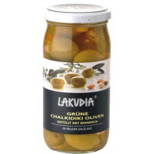 Lakudia (Essingen) Chalkidiki Oliven mit Mandeln (370g)