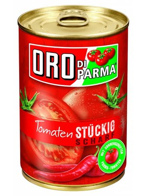 Hengstenberg Stückige Tomaten scharf (425ml)