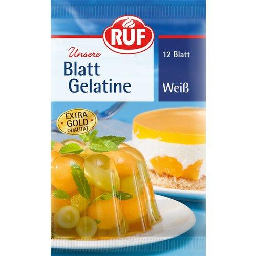 Ruf Blattgelatine weiß 12er (20g)
