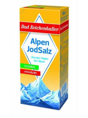 Bad Reichenhaller Jodsalz mit Fluorid + Folsäure (500g)