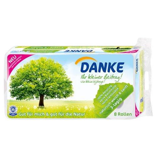 Danke Toilettenpapier 3-lagig (8x150 Blatt)