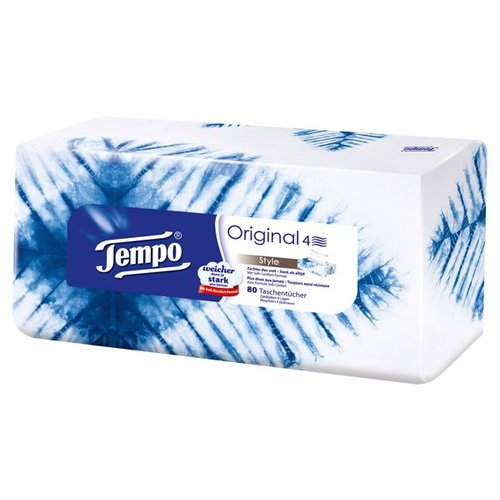 Tempo Taschentücher 4-lagig Box (80 Stück)