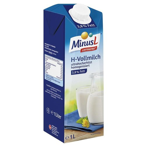 MinusL H-Vollmilch laktosefrei 3,5% (1l)