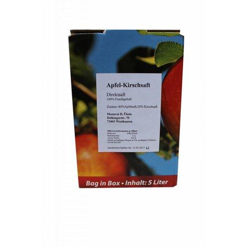 Übele Ostalb-Fruchtsäfte (Westhausen) Apfel - Kirschsaft (5l Bag in box)