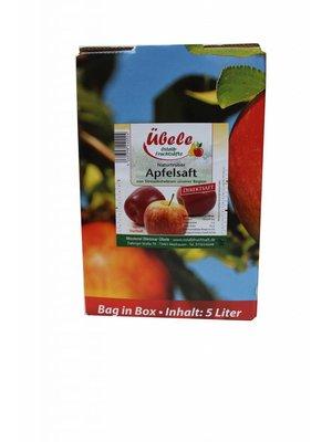 Übele Ostalb-Fruchtsäfte (Westhausen) Apfel Direktsaft naturtrüb (5l Bag in box)