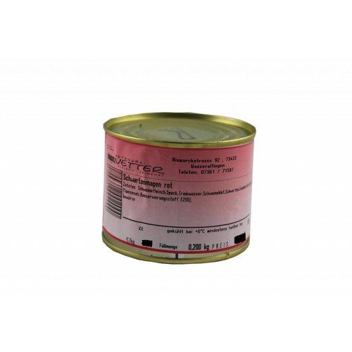 Metzgerei Vetter (Wasseralfingen) Roter Schwartenmagen (200g/Dose)