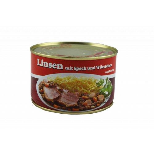 Metzgerei Vetter (Wasseralfingen) Linsen mit Speck und Saitenwürstchen (400g/Dose)