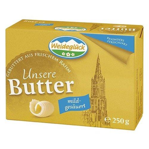 Weideglück Butter mild gesäuert (250g)