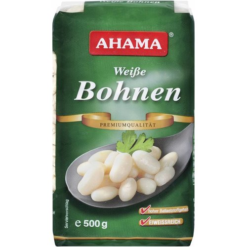 Ahama Weiße Bohnen Premiumqualität (500g)