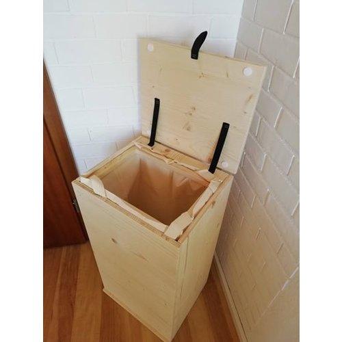 "Chuck Beaver Design (Aalen) Wäschebox ""Dilora"" + Tasche (handgefertigt)"