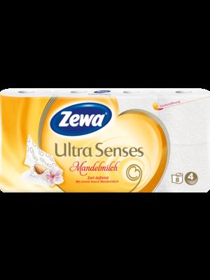 Zewa Toilettenpapier Ultra Senses Mandelmilch 4-lagig (8x135 Blatt)