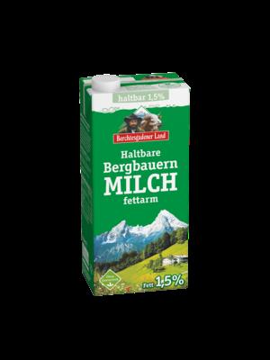 Berchtesgadener Land haltbare Bergbauern Milch fettarm 1,5% (1l)