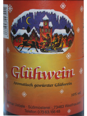 Übele Ostalb-Fruchtsäfte (Westhausen) Roter Glühwein (1l)