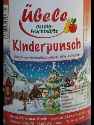 Übele Ostalb-Fruchtsäfte (Westhausen) Kinderpunsch (1l)