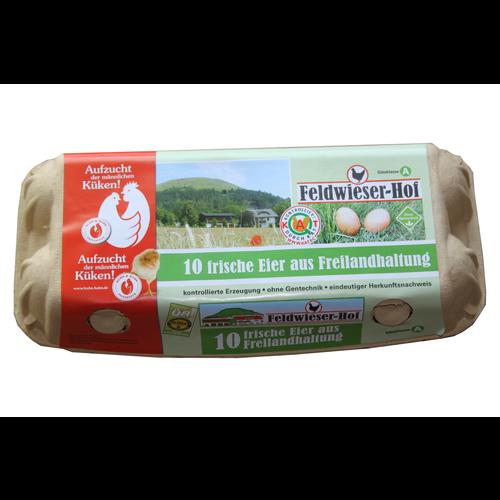 Feldwieser Hof (Bopfingen) 10 Frische Eier Freilandhaltung (Größe L)