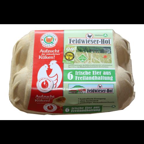 Feldwieser Hof (Bopfingen) 6 frische Eier Freilandhaltung (Größe XL)