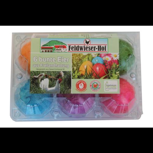 Feldwieser Hof (Bopfingen) 6 bunte Eier aus Freilandhaltung (Größe M)