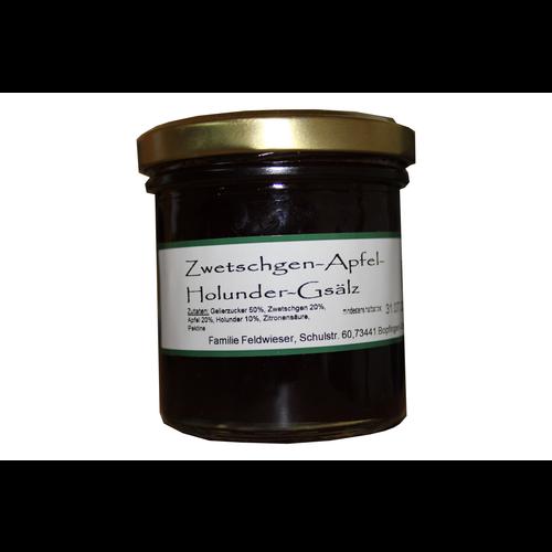 Feldwieser Hof (Bopfingen) Apfel-Zwetschgen-Holunder-Gsälz (165g)