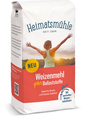 Heimatsmühle (Aalen) Weizenmehl plus Ballaststoffe (1kg)