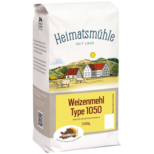 Heimatsmühle (Aalen) Ostalbkorn Weizenmehl Type 1050 (2,5kg)