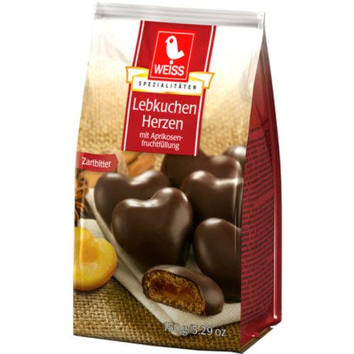 Weiss Lebkuchen Herzen + Aprikosenfüllung ZB (150g)