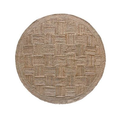 HK Living Patched jute rug round