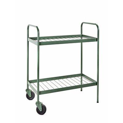 SERAX Trolley op wielen - Marie - legergroen - staal