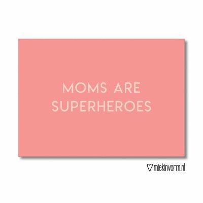 MIEKinvorm Moms are superheroes || Ansichtkaart
