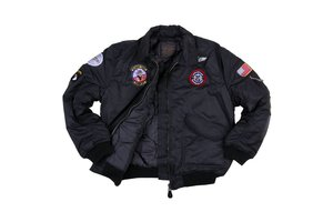 Kinder CWU flight jacket zwart